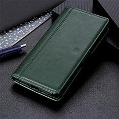 Funda de Cuero Cartera con Soporte Carcasa L01 para Huawei Y7a Verde