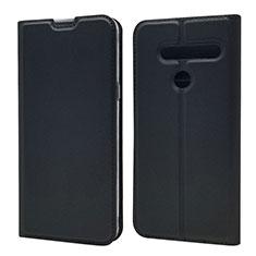 Funda de Cuero Cartera con Soporte Carcasa L01 para LG G8 ThinQ Negro