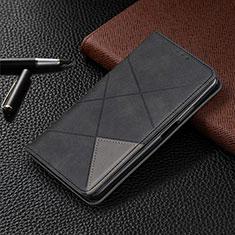 Funda de Cuero Cartera con Soporte Carcasa L01 para LG G8X ThinQ Negro