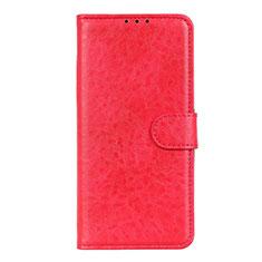 Funda de Cuero Cartera con Soporte Carcasa L01 para LG K51 Rojo