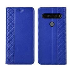 Funda de Cuero Cartera con Soporte Carcasa L01 para LG K51S Azul