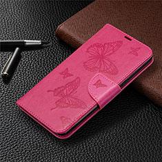 Funda de Cuero Cartera con Soporte Carcasa L01 para LG K61 Rosa Roja