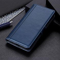 Funda de Cuero Cartera con Soporte Carcasa L01 para LG Q52 Azul