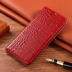 Funda de Cuero Cartera con Soporte Carcasa L01 para Motorola Moto E7 Plus Rojo