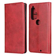 Funda de Cuero Cartera con Soporte Carcasa L01 para Motorola Moto Edge Plus Rojo