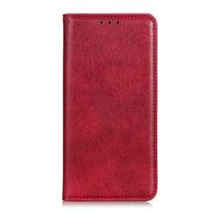Funda de Cuero Cartera con Soporte Carcasa L01 para Motorola Moto G 5G Rojo