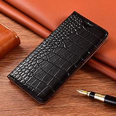 Funda de Cuero Cartera con Soporte Carcasa L01 para Motorola Moto G9 Negro