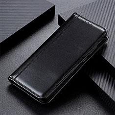 Funda de Cuero Cartera con Soporte Carcasa L01 para Motorola Moto One Fusion Negro