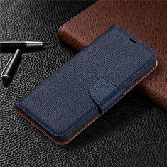 Funda de Cuero Cartera con Soporte Carcasa L01 para Nokia 3.4 Azul