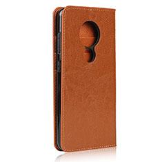 Funda de Cuero Cartera con Soporte Carcasa L01 para Nokia 7.2 Naranja