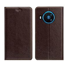 Funda de Cuero Cartera con Soporte Carcasa L01 para Nokia 8.3 5G Marron