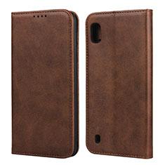 Funda de Cuero Cartera con Soporte Carcasa L01 para Samsung Galaxy A10 Marron