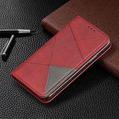 Funda de Cuero Cartera con Soporte Carcasa L01 para Samsung Galaxy A31 Rojo