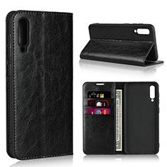 Funda de Cuero Cartera con Soporte Carcasa L01 para Samsung Galaxy A50 Negro