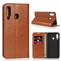 Funda de Cuero Cartera con Soporte Carcasa L01 para Samsung Galaxy A60 Naranja