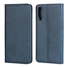 Funda de Cuero Cartera con Soporte Carcasa L01 para Samsung Galaxy A70 Azul