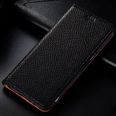 Funda de Cuero Cartera con Soporte Carcasa L01 para Samsung Galaxy A81 Negro