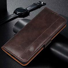 Funda de Cuero Cartera con Soporte Carcasa L01 para Samsung Galaxy M21 Marron