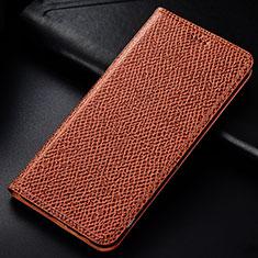Funda de Cuero Cartera con Soporte Carcasa L01 para Samsung Galaxy Note 10 Lite Marron