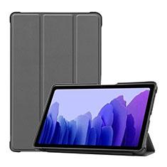 Funda de Cuero Cartera con Soporte Carcasa L01 para Samsung Galaxy Tab A7 Wi-Fi 10.4 SM-T500 Gris