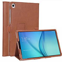 Funda de Cuero Cartera con Soporte Carcasa L01 para Samsung Galaxy Tab S5e Wi-Fi 10.5 SM-T720 Marron