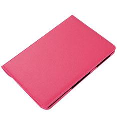 Funda de Cuero Cartera con Soporte Carcasa L01 para Samsung Galaxy Tab S6 Lite 4G 10.4 SM-P615 Rosa Roja