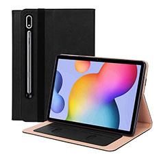 Funda de Cuero Cartera con Soporte Carcasa L01 para Samsung Galaxy Tab S7 11 Wi-Fi SM-T870 Negro