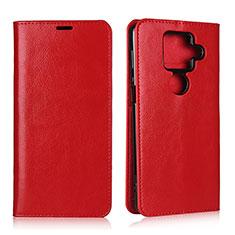 Funda de Cuero Cartera con Soporte Carcasa L01 para Sharp AQUOS Sense4 Plus Rojo