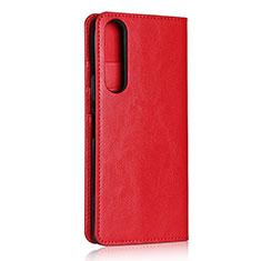 Funda de Cuero Cartera con Soporte Carcasa L01 para Sony Xperia 1 II Rojo