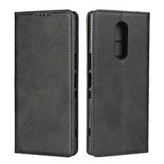 Funda de Cuero Cartera con Soporte Carcasa L01 para Sony Xperia 1 Negro