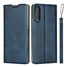 Funda de Cuero Cartera con Soporte Carcasa L01 para Sony Xperia 10 II Azul