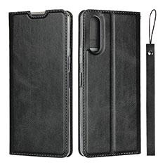 Funda de Cuero Cartera con Soporte Carcasa L01 para Sony Xperia 10 II Negro