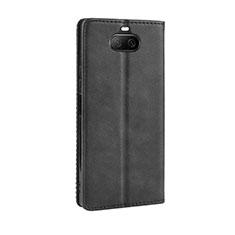 Funda de Cuero Cartera con Soporte Carcasa L01 para Sony Xperia 8 Lite Negro
