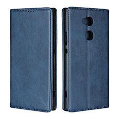 Funda de Cuero Cartera con Soporte Carcasa L01 para Sony Xperia XA2 Ultra Azul