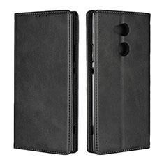 Funda de Cuero Cartera con Soporte Carcasa L01 para Sony Xperia XA2 Ultra Negro