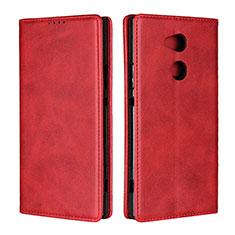 Funda de Cuero Cartera con Soporte Carcasa L01 para Sony Xperia XA2 Ultra Rojo