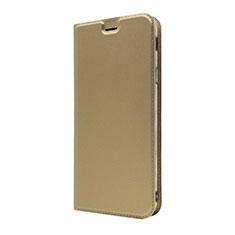 Funda de Cuero Cartera con Soporte Carcasa L01 para Sony Xperia XA3 Oro