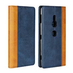 Funda de Cuero Cartera con Soporte Carcasa L01 para Sony Xperia XZ2 Azul