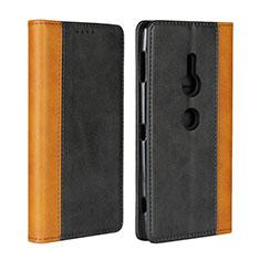 Funda de Cuero Cartera con Soporte Carcasa L01 para Sony Xperia XZ2 Negro