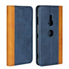 Funda de Cuero Cartera con Soporte Carcasa L01 para Sony Xperia XZ3 Azul