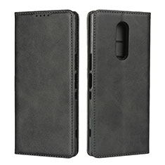 Funda de Cuero Cartera con Soporte Carcasa L01 para Sony Xperia XZ4 Negro