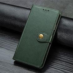 Funda de Cuero Cartera con Soporte Carcasa L01 para Xiaomi Mi Note 10 Lite Verde