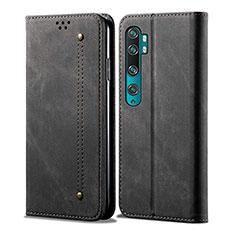 Funda de Cuero Cartera con Soporte Carcasa L01 para Xiaomi Mi Note 10 Negro