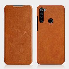 Funda de Cuero Cartera con Soporte Carcasa L01 para Xiaomi Redmi Note 8T Marron