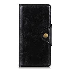 Funda de Cuero Cartera con Soporte Carcasa L01 para Xiaomi Redmi Note 9 Pro Negro