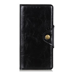 Funda de Cuero Cartera con Soporte Carcasa L01 para Xiaomi Redmi Note 9S Negro
