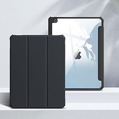 Funda de Cuero Cartera con Soporte Carcasa L02 para Apple iPad 10.2 (2020) Negro