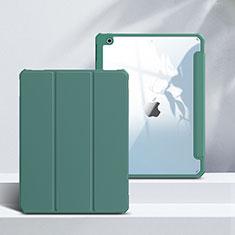 Funda de Cuero Cartera con Soporte Carcasa L02 para Apple iPad 10.2 (2020) Verde