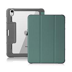 Funda de Cuero Cartera con Soporte Carcasa L02 para Apple iPad Air 4 10.9 (2020) Verde Noche