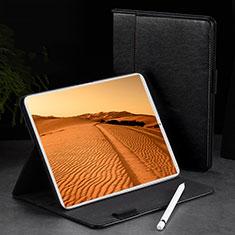 Funda de Cuero Cartera con Soporte Carcasa L02 para Apple iPad Pro 11 (2018) Negro